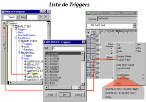 Produciendo Triggers en Oracle Forms